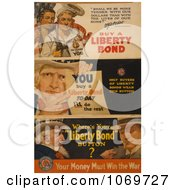 Clipart Of Uncle Sam Liberty Bonds Royalty Free Historical Stock Illustration by JVPD