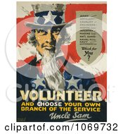 Clipart Of Uncle Sam Volunteer And Choose Your Own Branch Of The Service Royalty Free Historical Stock Illustration by JVPD