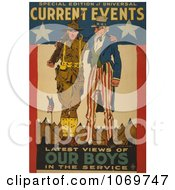 Clipart Of Uncle Sam Current Events Latest Views Of Our Boys In The Service Royalty Free Historical Stock Illustration