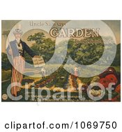 Clipart Of Uncle Sam Says Garden To Cut Food Costs Royalty Free Historical Stock Illustration
