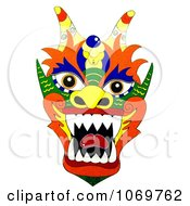 Clipart Colorful Chinese Dragon Royalty Free Illustration