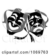 Clipart Dramatic Theater Masks Royalty Free Illustration by LoopyLand #COLLC1069763-0091