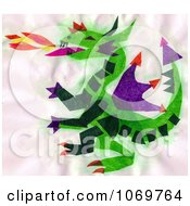 Clipart Dragon Blowing Fire Royalty Free Illustration by LoopyLand