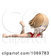 Clipart 3d Blond Lifeguard Woman Resting Royalty Free CGI Illustration by Ralf61
