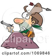 Clipart Arrow Through A Cowboys Hat Royalty Free Vector Illustration