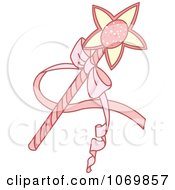 Clipart Pink Magic Wand Royalty Free Vector Illustration