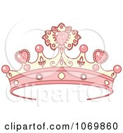 Clipart Pink Tiara Royalty Free Vector Illustration by Pushkin