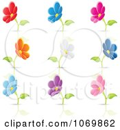 Clipart Blooming Flower And Reflection Logos Royalty Free Vector Illustration by cidepix