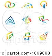 Abstract Design And Reflection Logos 1