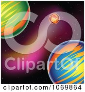 Clipart Colorful Planets In Outer Space - Royalty Free Vector Illustration by cidepix