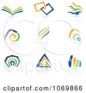 Clipart Abstract Design And Reflection Logos 2 Royalty Free Vector Illustration