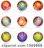 Clipart Colorful Sphere Logos 2 Royalty Free Vector Illustration by cidepix