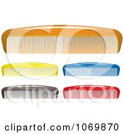 Clipart 3d Colorful Combs Royalty Free Vector Illustration