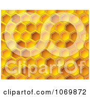 Clipart Golden Honeycomb Background Royalty Free Vector Illustration