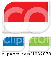 Clipart Colorful Rounded Tags Royalty Free Vector Illustration by michaeltravers