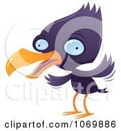 Purple Squawking Bird