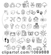 Clipart Outline Ecology Icons Royalty Free Vector Illustration by yayayoyo