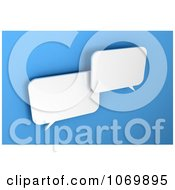 Clipart Two 3d Blank Dialog Chat Windows Royalty Free CGI Illustration