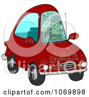 Clipart Bugs Splattered All Over A Drivers Car Windshield Royalty Free Illustration by djart