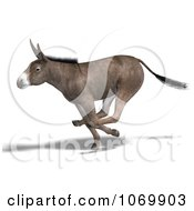 Clipart 3d Mule Running Royalty Free CGI Illustration
