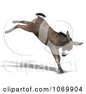 Clipart 3d Mule Kicking Royalty Free CGI Illustration