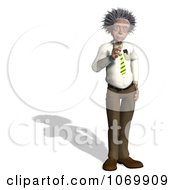 Clipart 3d Gesturing Man Resembling Einstein Royalty Free CGI Illustration by Ralf61