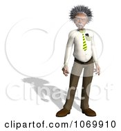 Clipart 3d Standing Man Resembling Einstein Royalty Free CGI Illustration by Ralf61