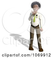 Clipart 3d Shocked Man Resembling Einstein Royalty Free CGI Illustration by Ralf61