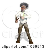 Clipart 3d Man Resembling Einstein Using A Sling Shot Royalty Free CGI Illustration by Ralf61