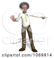 Clipart 3d Halting Man Resembling Einstein Royalty Free CGI Illustration by Ralf61