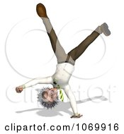 Clipart 3d Cartwheeling Man Resembling Einstein Royalty Free CGI Illustration by Ralf61