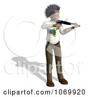 Clipart 3d Violinist Man Resembling Einstein 1 Royalty Free CGI Illustration by Ralf61