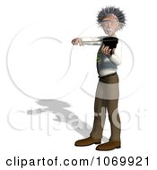 Clipart 3d Violinist Man Resembling Einstein 2 Royalty Free CGI Illustration by Ralf61