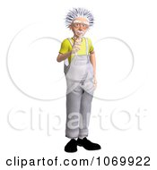 Clipart 3d Gesturing Worker Man Resembling Einstein Royalty Free CGI Illustration by Ralf61