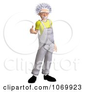 Clipart 3d Thumbs Up Worker Man Resembling Einstein Royalty Free CGI Illustration by Ralf61