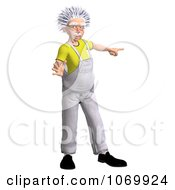 Clipart 3d Warning Worker Man Resembling Einstein Royalty Free CGI Illustration by Ralf61