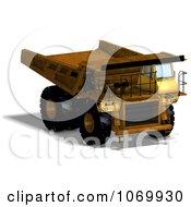 Clipart 3d Rusty Dump Truck 1 Royalty Free CGI Illustration