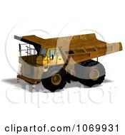 Clipart 3d Rusty Dump Truck 2 Royalty Free CGI Illustration