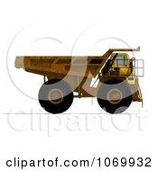 Clipart 3d Rusty Dump Truck 3 Royalty Free CGI Illustration