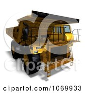 Clipart 3d Rusty Dump Truck 4 Royalty Free CGI Illustration