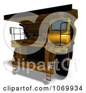 Clipart 3d Rusty Dump Truck 5 Royalty Free CGI Illustration