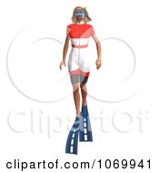 Clipart 3d Woman Snorkeling 7 Royalty Free CGI Illustration