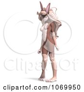 Clipart 3d Sexy Bunny Woman Standing 1 Royalty Free CGI Illustration by Ralf61