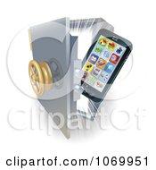Poster, Art Print Of 3d Phone In A Vault