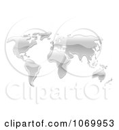 Clipart 3d Mercury World Atlas Royalty Free Vector Illustration