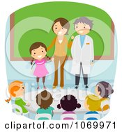 Clipart Diverse Stick Students On Parents Day Royalty Free Vector Illustration