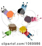 Clipart Diverse Stick Students Working On A Group Project Royalty Free Vector Illustration
