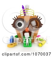 Clipart 3d Ivory Students In An Owl Playground Royalty Free CGI Illustration by BNP Design Studio