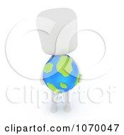 Clipart 3d Student Holding A Desk Globe Royalty Free CGI Illustration