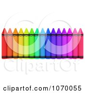 Clipart 3d Row Of Crayons 3 Royalty Free CGI Illustration